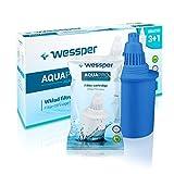 Wessper 4 Cartuchos de filtrado de agua alkalina AQUApro-Sistema de filtración ionizador de 7 fases- agua saludable, Azul