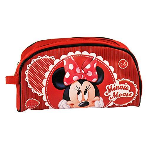 Disney Trousse de toilette Motif Mickey et Minnie Rouge
