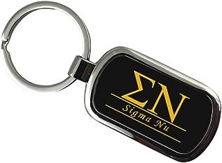 Sigma Nu Chrome Custom Keychain