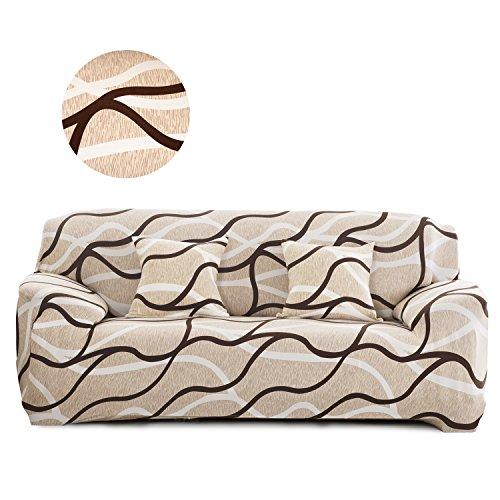 Cornasee Funda de sofá Elastica 3 plazas,Cubierta de impresión Floral para sofá con Cuerda de fijación