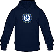 XIULUAN Men's Chelsea Football Club Logo Hoodied Sweatshirt Long Sleeve