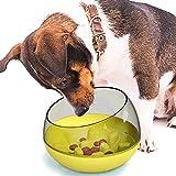 EONAZE Comedero para Que Perros coman despacio - Alimentación Lenta Interactivo Antivoracidad Cuencos para Perros, se adaptan a Perros y Gatos pequeños, medianos (Amarillo)