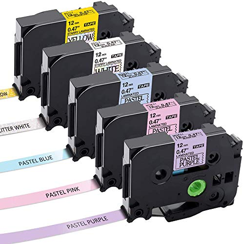Nastro per Etichette Aken compatibile in sostituzione di Brother P-touch TZe231 Tze-231 12mm Nastri Etichette per Brother P-touch PT-H110 PT-H100R PT-1005 PT-1010 PT-1830VP PT-2030 1010 1090 1830VP