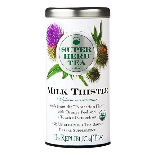 The Republic of Tea Organic Milk Thistle Superherb Herbal Tea (36 Tea Bags)