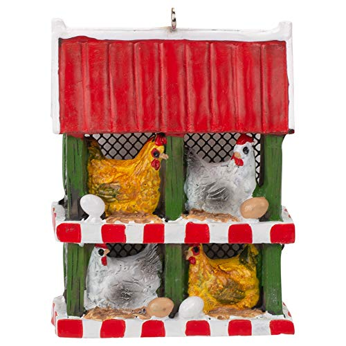 Midwest-CBK Chicken Coop with Chickens and Eggs Ornament