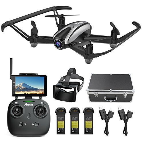 Potensic U36D RC Quadcopter Drone with Camera 720P HD Live Video 5.8Ghz FPV Headless Mode & Altitude Hold Function & VR Glasses