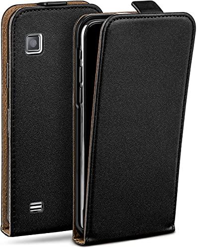 moex Flip Hülle für Samsung Star 2 Hülle klappbar, 360 Grad R&um Komplett-Schutz, Klapphülle aus Vegan Leder, Handytasche mit vertikaler Klappe, magnetisch - Schwarz