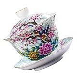 Cabilock 1 Set di Ceramica Tazza di tè E Piattino di Porcellana di Stile dell'Europa Tazza da tè Cucina Raffinata E Decorazioni da Tavola per Latte Cappuccino