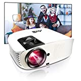 HD Projector - Artlii 2020 Upgraded Movie Projector, 250' HD Home Theater Projector, 1080P Support Video Projector with 2 USB HiFi Stereo for Home Entertainment, Movies, Sports and Video Games