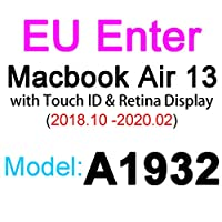 for for for MacBookPro用シリコンキーボードカバー1315 16 17 Retina Touch Air 13 1211透明クリアTPUEU US A2179 A22892020フィルム -EU 2019 Air 13