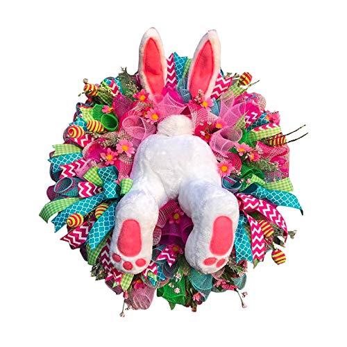 Harilla Guirnalda Decorativa de Conejito de Pascua, Orejas de Conejo, Puertas, Ventanas, Guirnalda de Pared, Decoración, Fiesta, Jardín, Puerta Principal, Ado