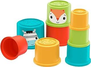 Fisher-Price GYM46 - Kleurrijke stapelbekers van Fisher-Price ontwikkelingsspeelgoed voor baby's, 6 maanden en ouder