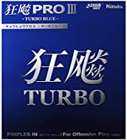 ニッタク(Nittaku) 卓球 ラバー キョウヒョウプロ3 TURBO BLUE 裏ソフト 粘着性 ブラック 厚 NR-8725(スピード)