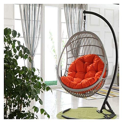 LLNN Home Decoration Swing Chair Cushion Hanging Egg Hammock Chair Pads, Without Stand Multi Color Swing Seat Cushioning Thick Nest Hanging Chair, 90x120cm Hanging Basket Furniture Cushion