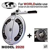 Disklok S 390 Silber inkl. Lenkrad-Schoner - Lenkradkralle + Airbagschutz für Lenkräder mit 35-38,5 cm ø (für Linkslenker EU ohne UK)