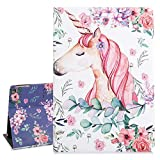Hi Space Unicorn iPad 9.7 Case, Pink Rose Flower Folio Stand Tablet Smart Case Cover Auto Sleep Wakeup Function for iPad 5th/6th Gen iPad Air 1/2 2017 2018