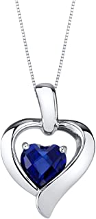 1.15Ctw Oval Cut Blue Sapphire Sim Diamond Fashion Women Pendant Necklace14K White Gold Finish
