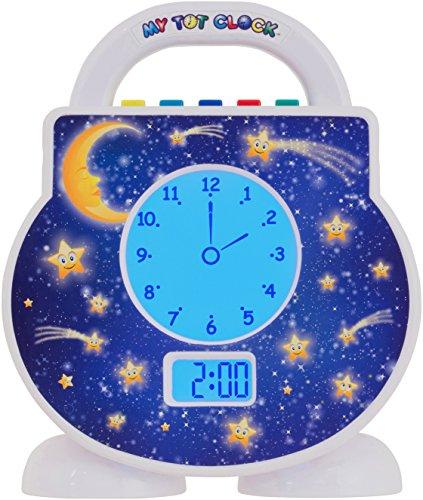 My Tot Clock Toddler Clock, White