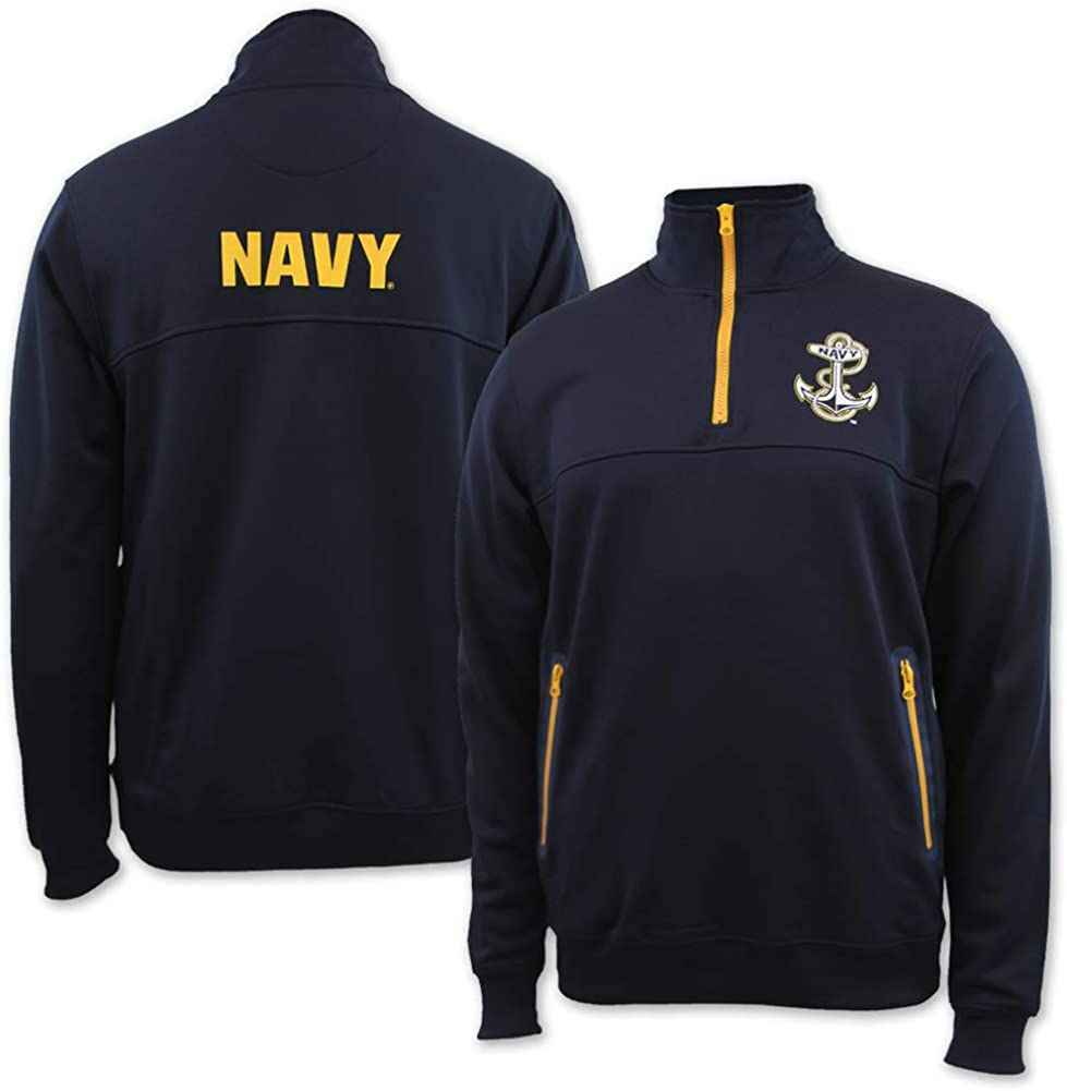Armed Forces Gear Navy Anchor Performance 1//4 Zip