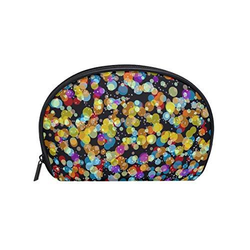 Bokeh Colors Effektleuchten Kosmetiktasche Clutch Sea Shell-förmige Make-up-Tasche Travel Handy Organizer Case Tolietry-Tasche für Frauen