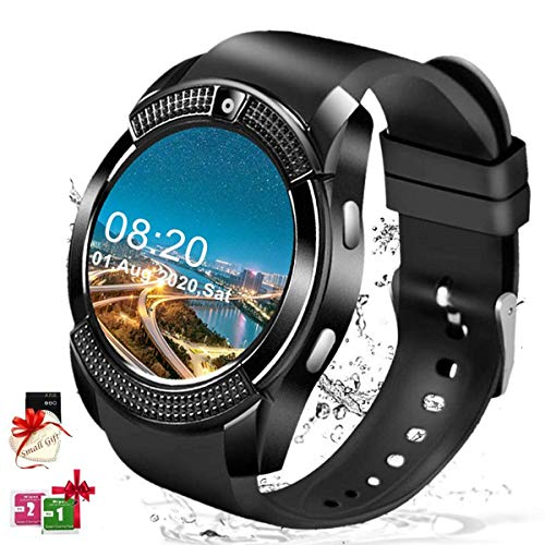 Smart Watch for Android Phones, Smartwatch for Men Women, Smart Watches with Camera Bluetooth Watch with SIM Card Slot Pedometer Cell Phone Watch Compatible Android Samsung iOS Adult Ladies Man