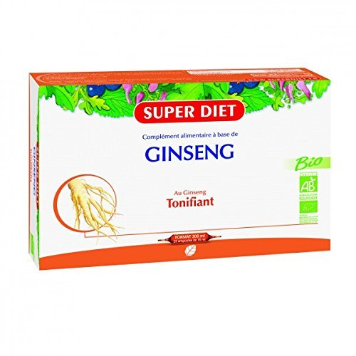 SuperDiet Ginseng Bio Super Diet 20 ampoules de 15ml soit 300ml by Super Diet
