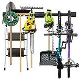 Garage Tool Storage Rack & Wall Mounted Bicycle Rack, Organizer for Rakes, Shovels, Tools & Bikes