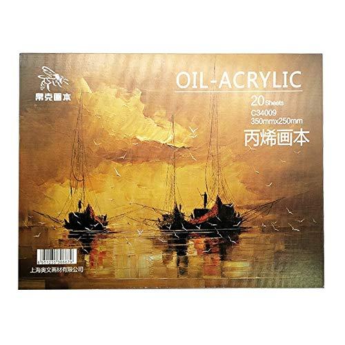 De Oficina Pintura al óleo Profesional Libro de Papel 20 Hojas de acrílico Pintura al óleo Pintura Creativa Lienzo Artículos de Arte