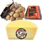 Queso con Membrillo y Nueces - Medio Queso Blanco Idiazabal - Bocaditos de queso, membrillo y nueces, si buscas un aperitivo fácil y rápido aquí tienes uno.