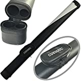 CUESOUL 1x1 Hard Pool Cue Billiard Stick Carrying,Black and White Cue Case 1x1