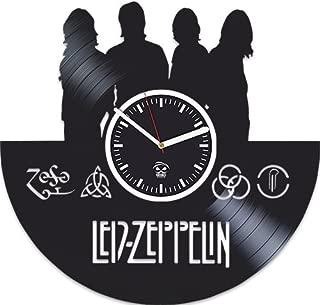Kovides Led Zeppelin Vinyl Record Clock, Best Gift for Dad, Birthday Gift for Boy, Vinyl Wall Clock, Home Decor, Silent, Rock Band, Music Fans Modern Art, Wall Clock Vintage