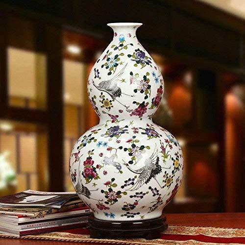 Vaas decoratie grote Antique Jingdezhen vaas met bloemen en Bird Patterns keramische tafel Vaas Porselein decoratieve vaas