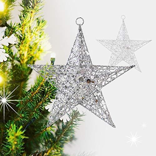 dehong ster kerstboom topper smeedijzeren kerstster voor bar raam decoraties