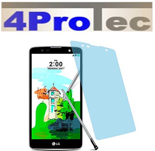 4ProTec I 2 Stück HARTBESCHICHTETE KRISTALLKLARE Bildschirmschutzfolie für LG Stylus 2 Plus Displayschutzfolie Schutzhülle Bildschirmschutz Bildschirmfolie Folie