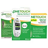 OneTouch Verio Reflect Blood Glucose Test Kit Includes Meter, Test Strips and 30 Guage Lancets