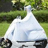 GLJY Raincoat- Hommes et Les Femmes Raincoat 1 Personne 2 Personnes Transparent Motos Voiture Raincoat Voiture électrique Batterie Équitation Poncho (Couleur: Blanc B, Taille: XXXXL),Blanc,Twopeople