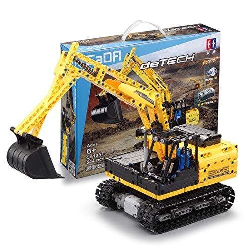 Bataop Técnica de bloques de construcción CADA excavadora con función de alimentación, excavadora de oruga técnica de 544 piezas, juguete de construcción compatible con Lego Technic