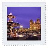 3dRose qs_86943_1 Town Square, Cathedral Basilika, Cuzco,