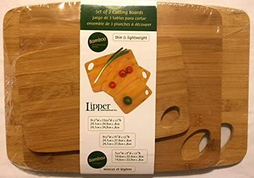 Bamboo Cutting Board Free shipping Max 67% OFF anywhere in the nation Set International Sizes Lipper 3