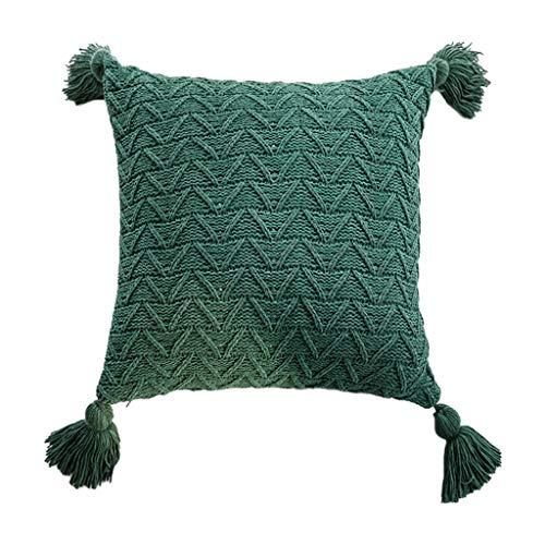 Wusuowei Funda de almohada de punto de ganchillo para dolor de cuello, gran soporte para cuello, almohada de apoyo lumbar lavable en la cintura almohada desmontable Roll cama Rest Pillow