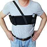 Pistol Holsters for Concealed Carry,Right Handed Holster with Double Mag Pockets for Men and Women - 45 inch