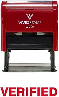 Verified Self Inking Rubber Stamp (Red Ink) - Medium