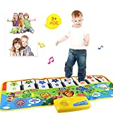 Fat.chot Piano Mat, Multifunction Musical Carpet Baby Toddler Crawling Educational Music Piano Keyboard Blanket Touch Play Safety Animals Learn Singing Funny Toy for 3 year old Kids