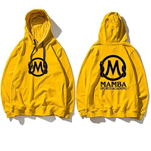 FMJTXD Mamba Negra para Siempre!Mamba Academy Amarillo Hombres de Baloncesto Respirable Baloncesto Kobe El Primer Aniversario Memorial SweatshirtLQY-C1358 (Color : Yellow, Size : M)