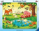 Ravensburger Kinderpuzzle - 05075 Kleine Tierfreunde - Rahmenpuzzle für Kinder ab 4 Jahren, Puzzle mit Tier-Motiv, mit 42 Teilen