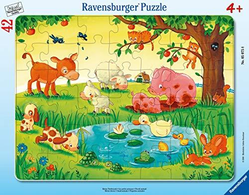 Kinderpuzzle  Kleine Tierfreunde Puzzle de 30 48 Piezas, Color Teal/Turquoise Green (05075)
