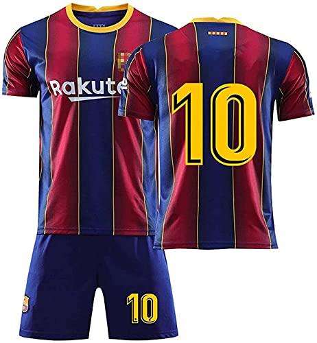 10 S. Messi Sportswear Camiseta de entrenamiento del equipo Jerseys Trae Calcetines 2021 Méssi No.10 Barcélona Home and Away Football Jersey (XL)