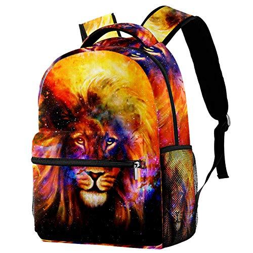 Nebulosa de la Llama del León Mochila Escolar para Niños Y Niñas Mochila Escolar De Ocio Impermeable Y Ligera 29.4x20x40cm