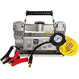 Tire Inflator, 12 Volt 120 PSI Twin Air Compressor for Trucks, SUVs, RVs & Trailers by MasterFlow