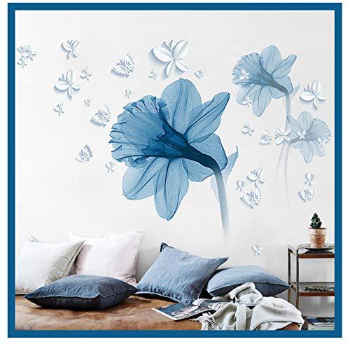 Terilizi DIY 85 * 120Cm 3D Bloem Behang Home Decoratie Muursticker Moderne Muurstickers Art Nordic Stijl Poster Mural